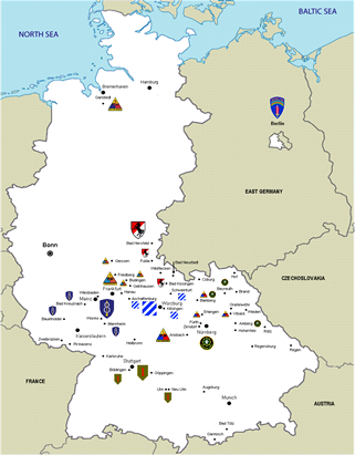 U S Army Aschaffenburg Germany Click Here For A Larger Map Of Cold War Units In