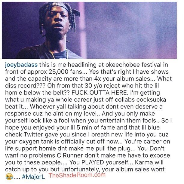 Oop!!!! #JoeyBadass clapped back #TroyAve with no mercy  #ClapBackSeason