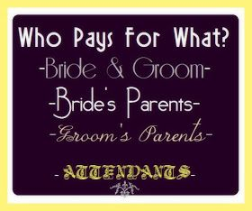Who Pays At Your Wedding Traditionally Speaking