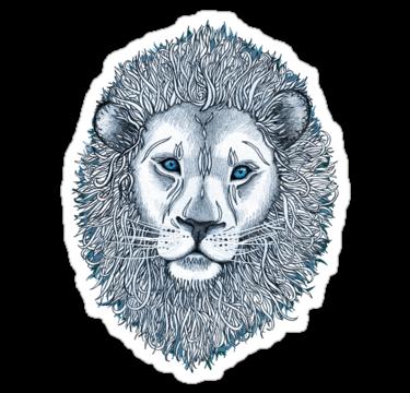 Blue Eyed Lion Sticker Blue eyes, Lion, Lion sculpture