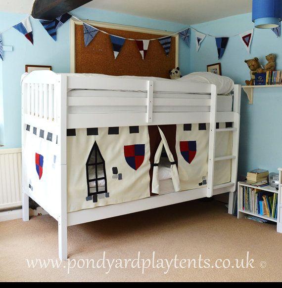 Knight's Castle bunk bed tent. Create a perfect, secret