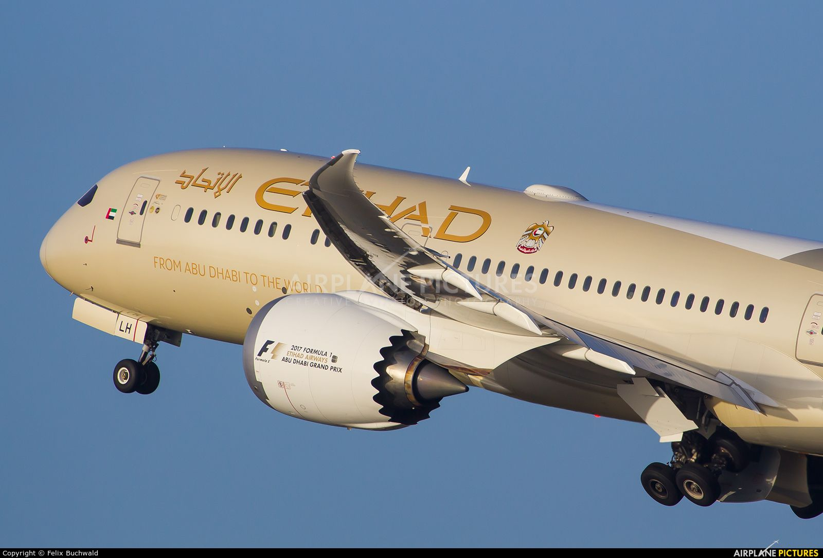 Etihad Airways Boeing 7879 Dreamliner photo by Felix