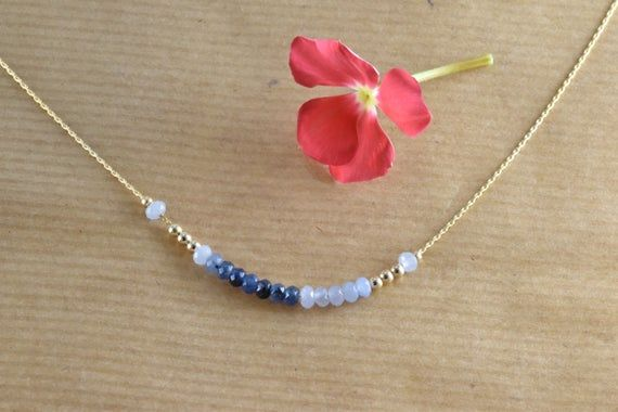 Photo of Gemstone Necklace For Women, Goldfilled Necklace, Delicate Necklace, Minimal Necklace, Beads Necklace Woman, Tiny jewelry, Dainty Jewelry