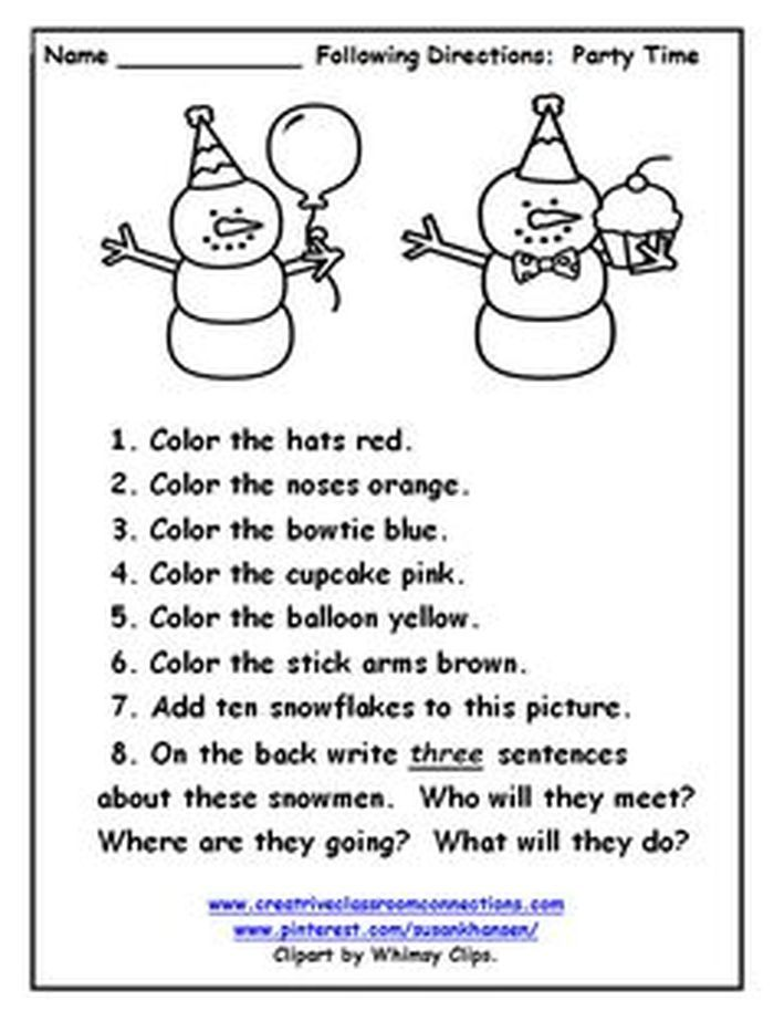 Wow Following Directions Worksheet Free Mapping Worksheets