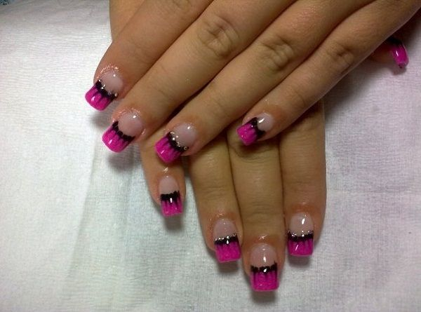 Nail Tip Designs Ideas french nails nailkartcom french tip nail designsfrench 40 Cute And Easy Nail Art Designs For Beginners