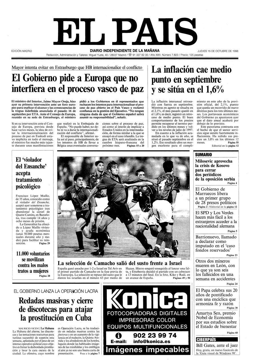 15 de Octubre de 1998