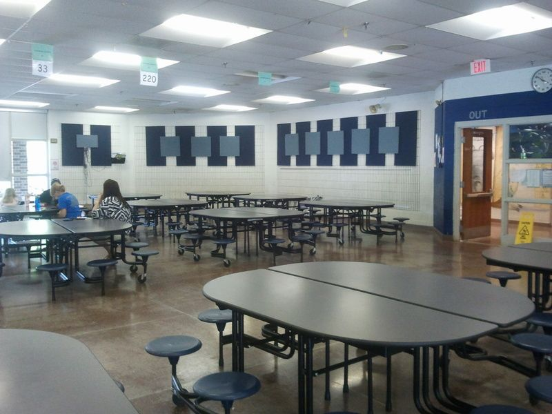 EcoSorpt® Cotton Acoustic Panel | Cafeteria design, School ...