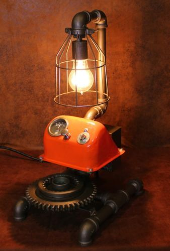 Allis Chalmers Table Lamp : Steampunk machine age allis chalmers tractor gear dash