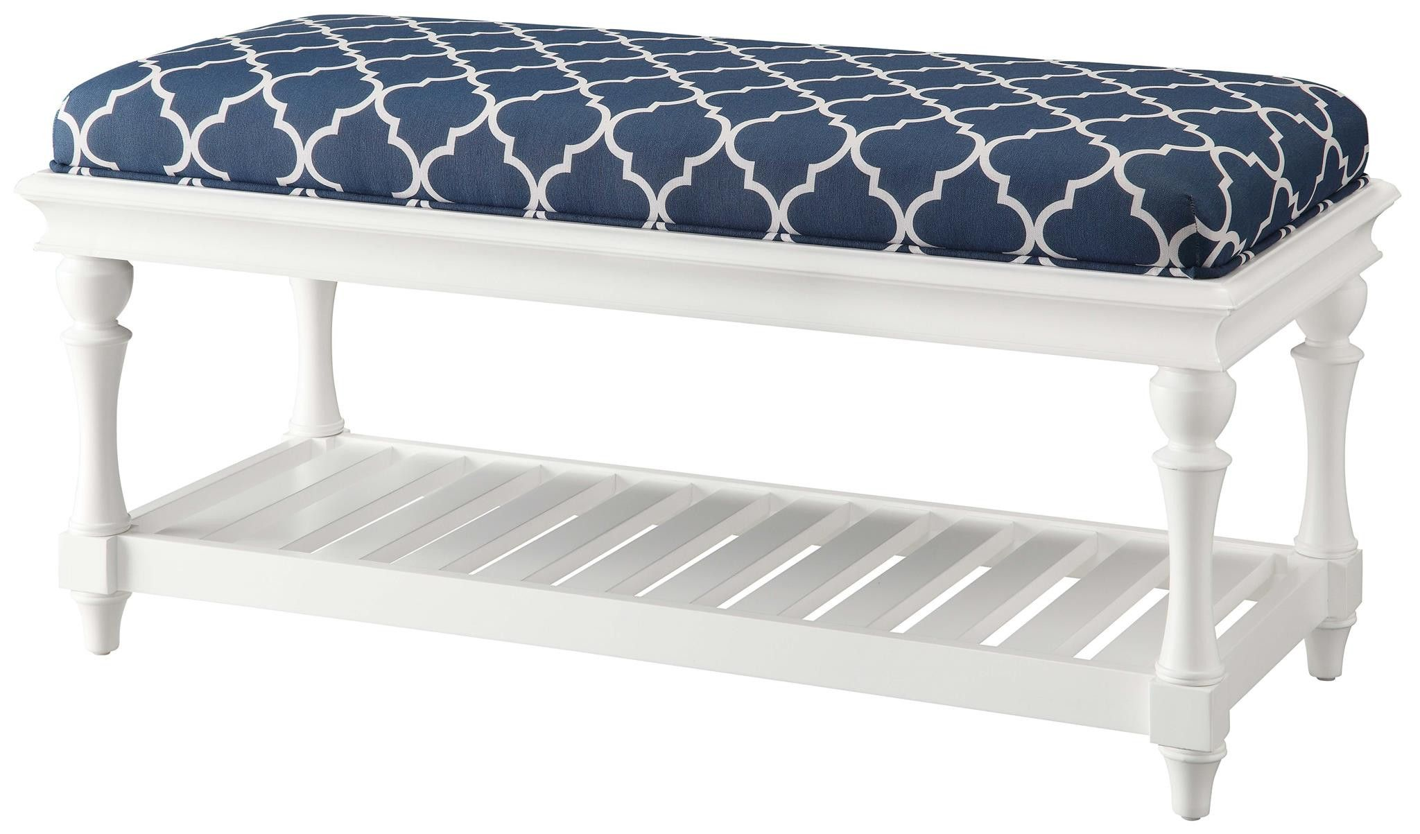 Best Crestview Atlantic Blue And White Accent Bench Cvfzr900 400 x 300