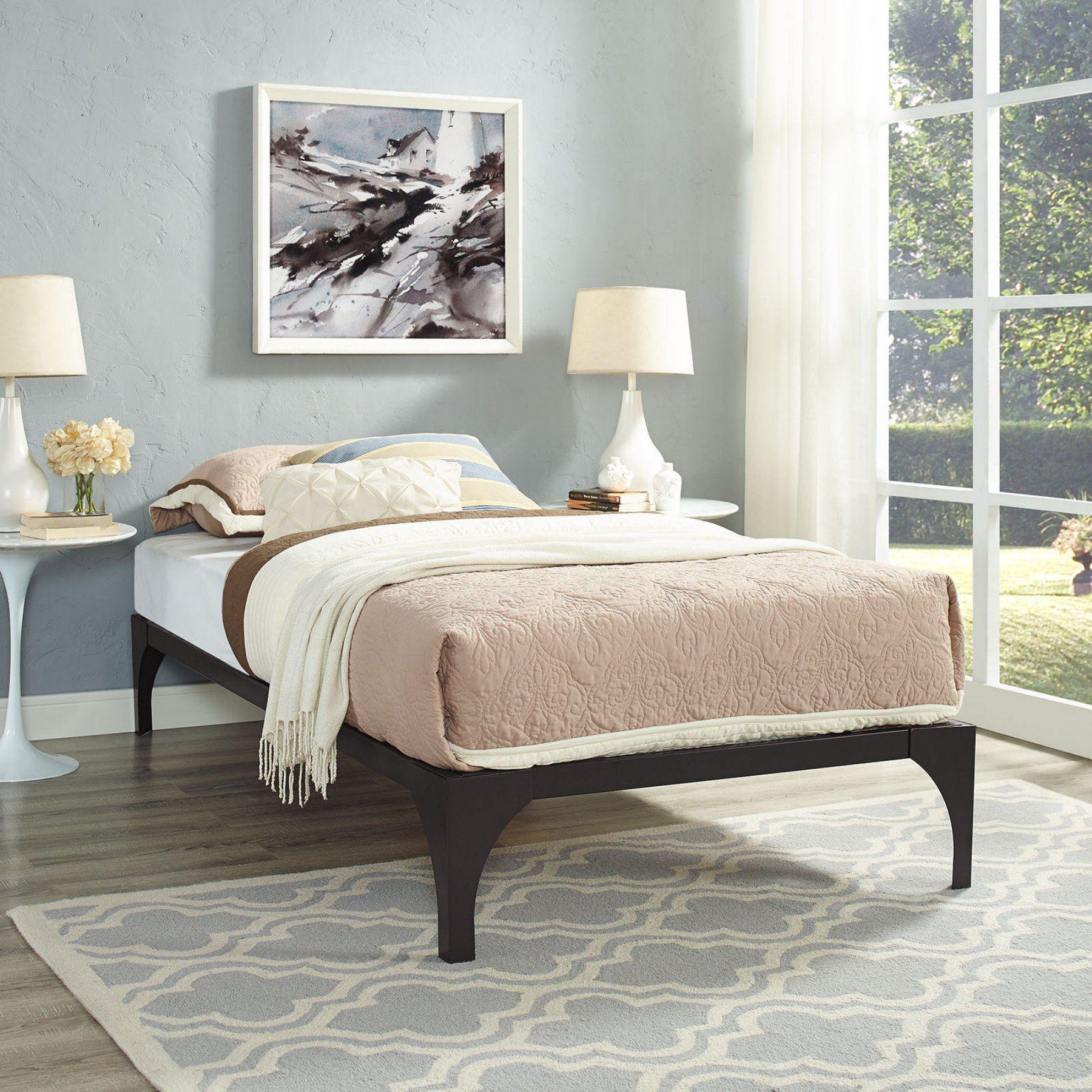 Modway Ollie Metal Platform Bed - MOD-5431-GRY