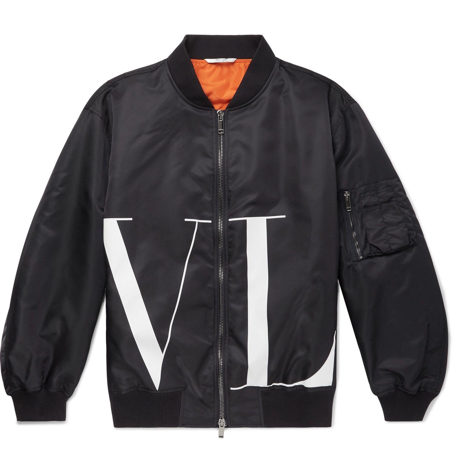 Valentino Oversized Logo Print Shell Bomber Jacket Men Blue Valentino T Shirt Bomber Jacket Bomber Jacket Men [ 1604 x 1536 Pixel ]