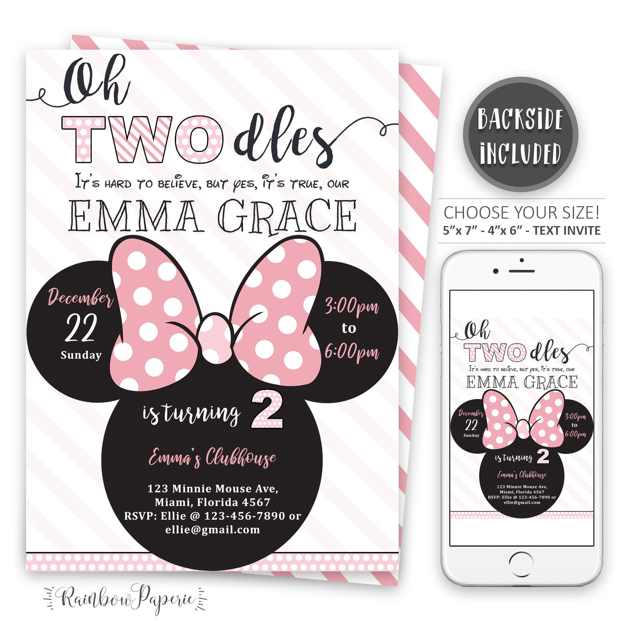 minnie mouse invitation minnie mouse