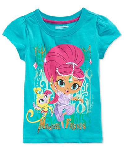 Girls Kids Shimmer and Shine CartoonLong Sleeve Casual Costumes Party T-shirt