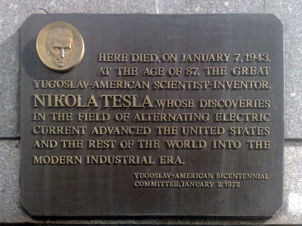 Nikola Tesla Plaque Nikola Tesla Nikola Tesla Nicolas