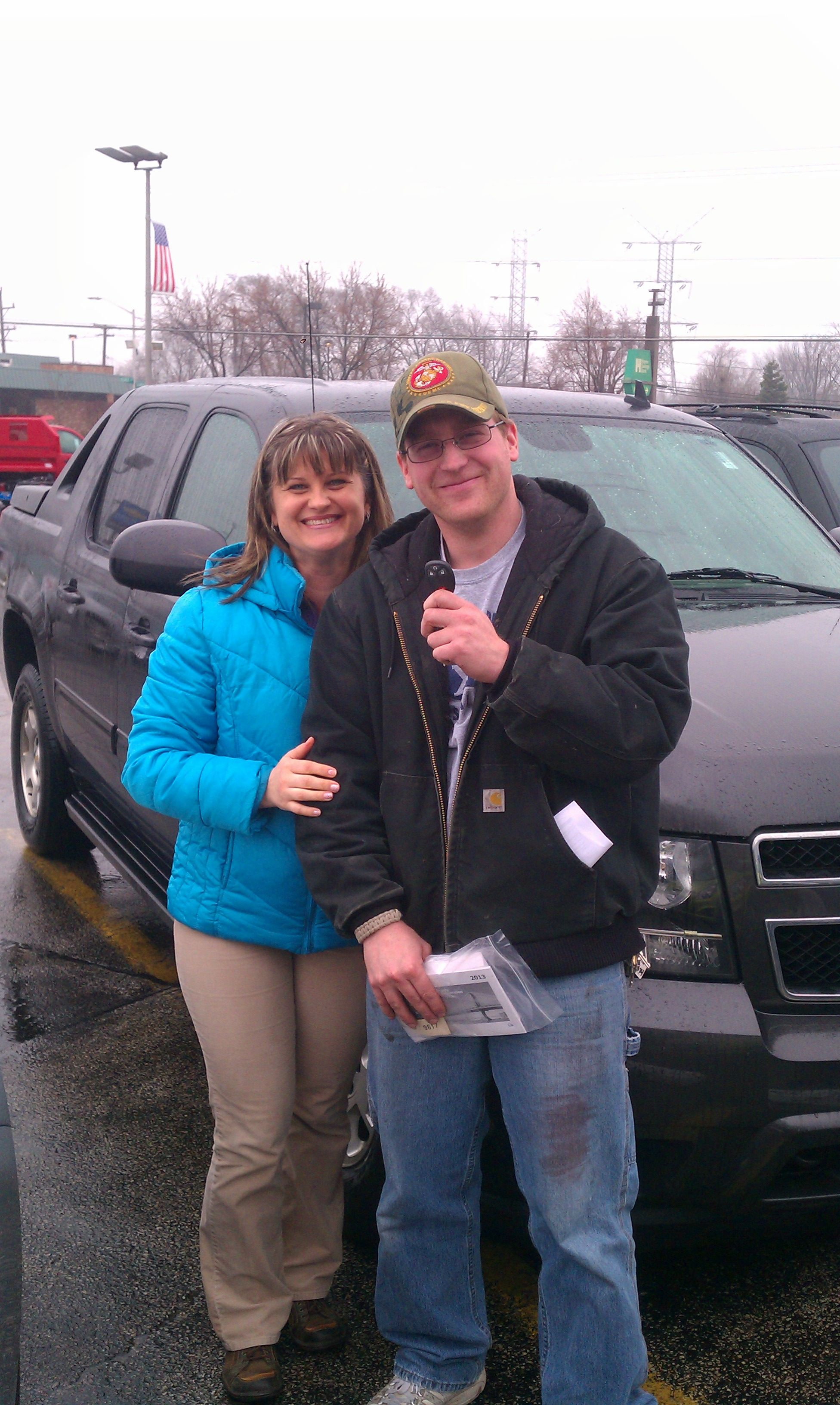 Kurt PuckhaberS Customer Lesley Cody With Her New Trailblazer