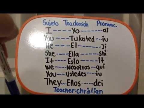 Aprende Ingles Super Facil En 15 Minutos Primer Curso 1 Clases Ingles Para Principiantes Y Ingles Para Principiantes Aprender Inglés Pronombre Personal