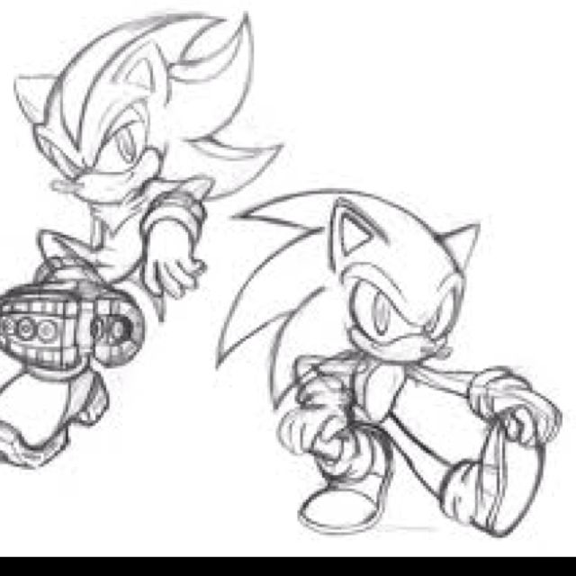 Kewl Sonic Drawings Sonic And Shadow Hedgehog Drawing Drawings