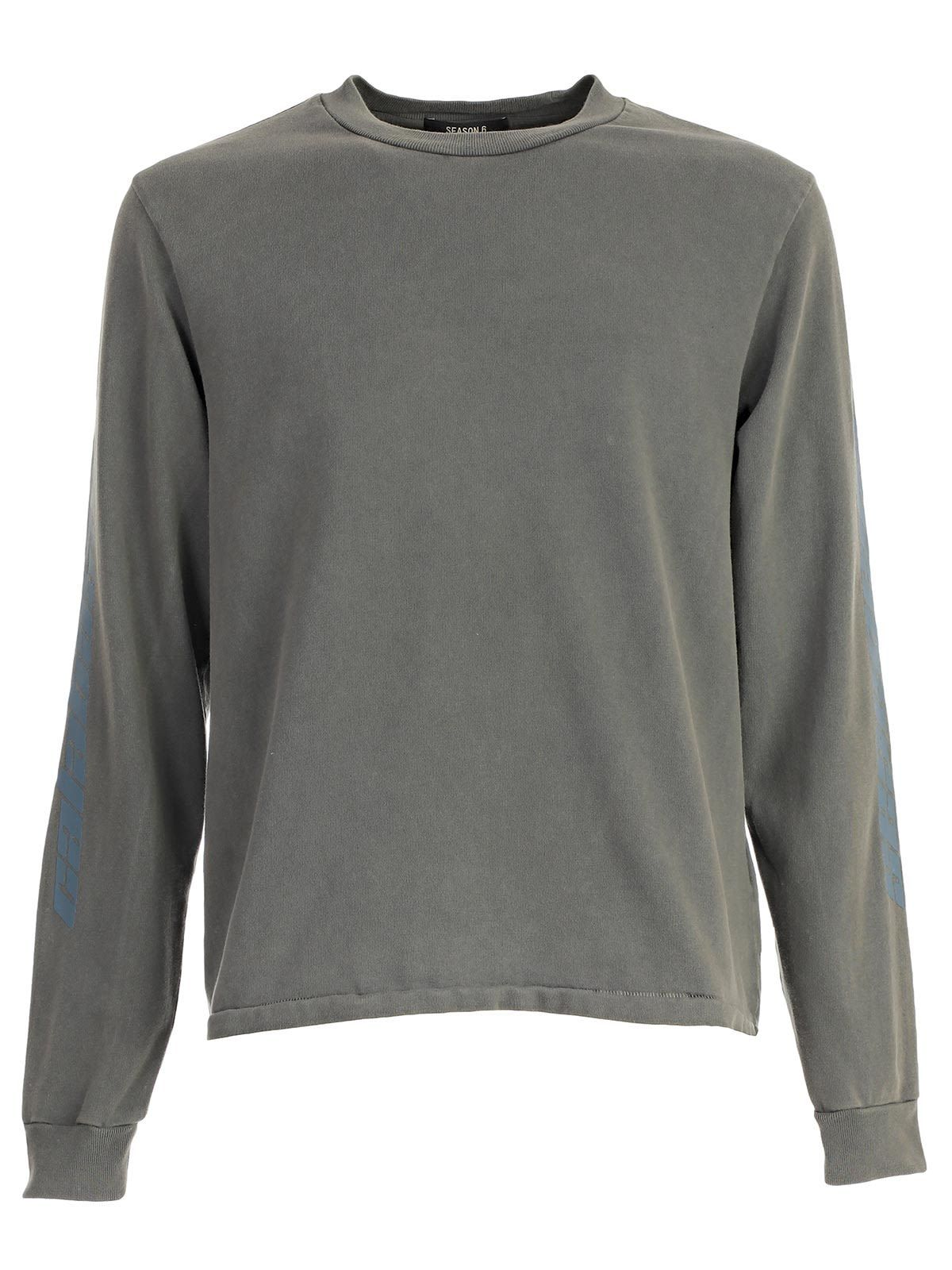 Yeezy Mens Season 6 Long Sleeve Calabasas T-Shirt S Gray