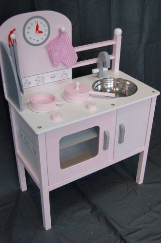 Details About New Kids Wooden Kitchen Wood Toy Kitchens