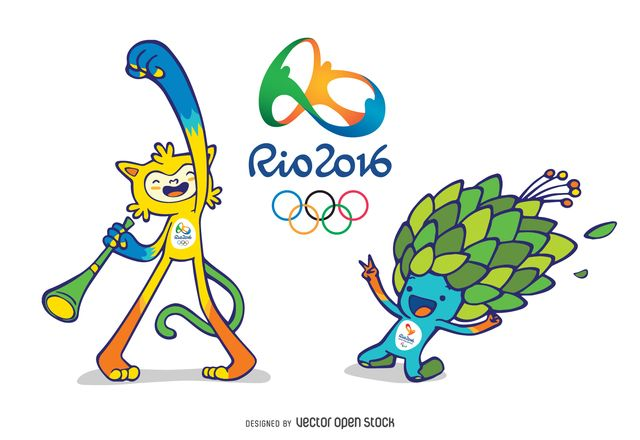 Funny and cute illustration of the Rio 2016 Olympic Mascots. Special to decorate any article or site about the Olympic Games. Everybody loves them! Rio