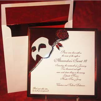 250e890ceac95a976734819e1f87b239 phantom of the opera wedding invitations wedding newsday,Phantom Of The Opera Invitations