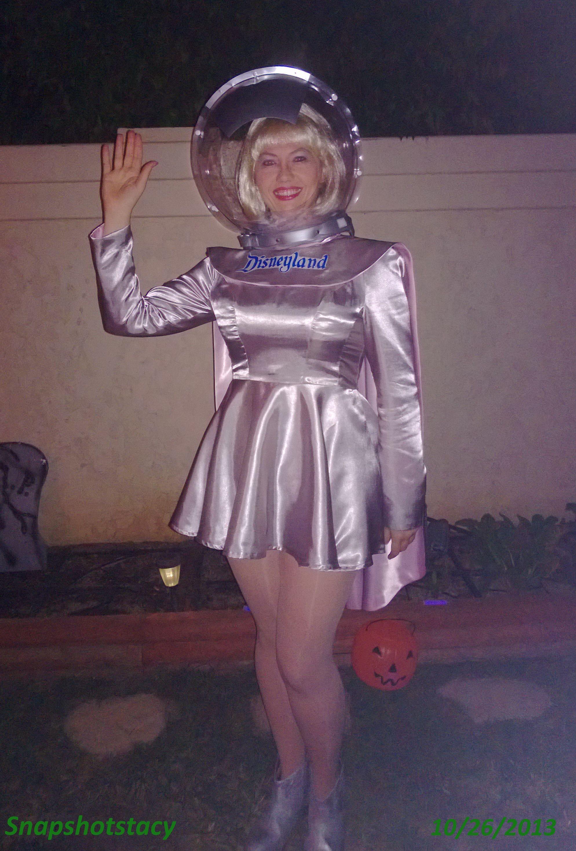 my halloween costume 2013 (with helmet) : spacegirl - disneyland