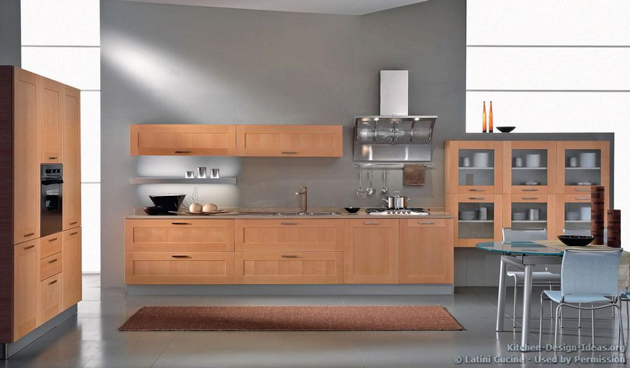 Light Grey Kitchen Walls kitchen of the day: a modern italian kitchen with light wood