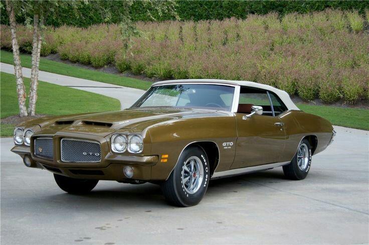 Classic Gm Muscle Getit16 71 Gto Convertible Pontiac Gto Gto Pontiac