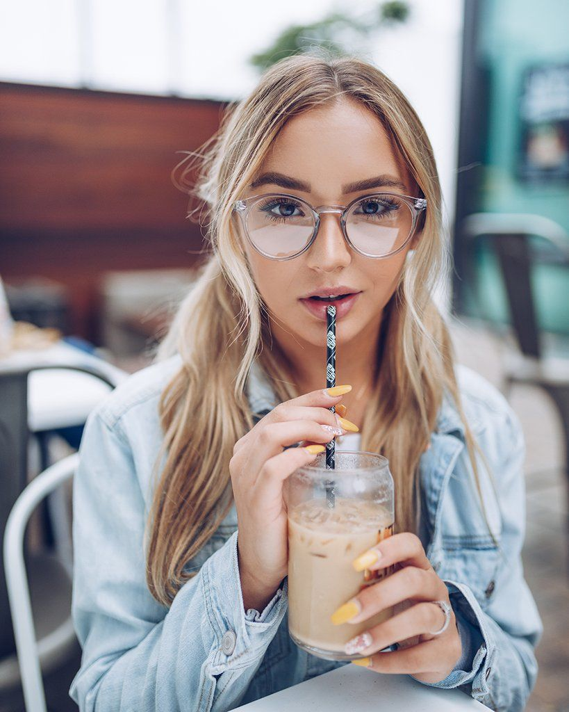 Joyce Transparent Clear Colored Round Frame Glasses Round Glasses Frames Clear Glasses Frames Glasses Fashion Women