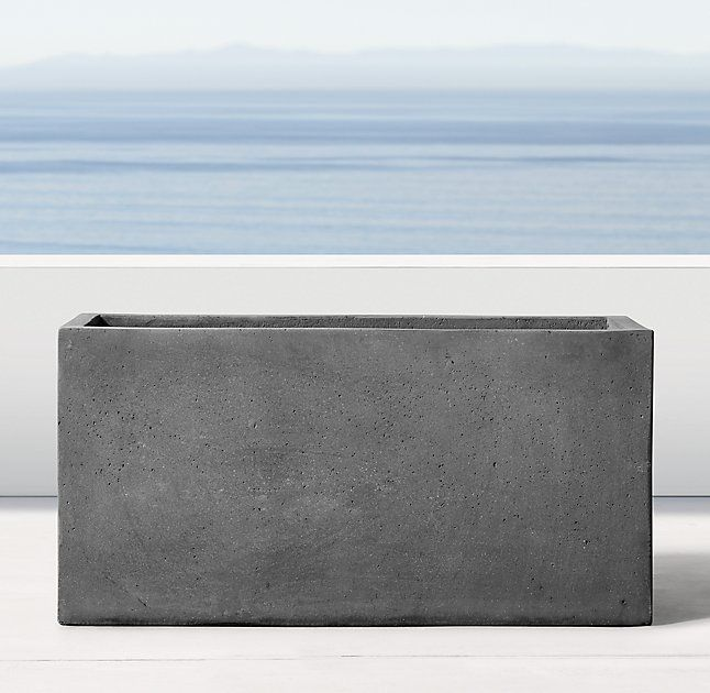 In ONYX Color // Pertosa Cube Trough Planter