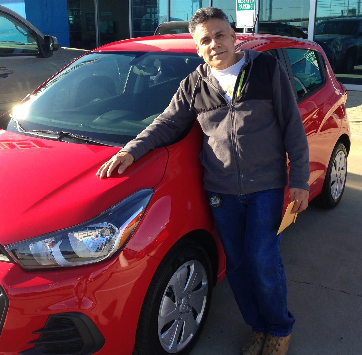 ALFREDO's new 2016 CHEVROLET SPARK! Congratulations and best wishes from Orr Chevrolet and TERRY TUCKER.