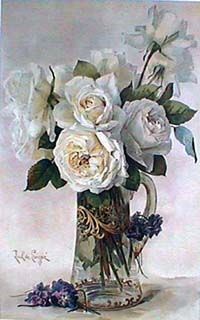 Roses by Paul de Longpre Art Print of Vintage Art