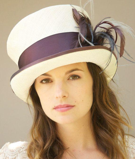 82f831c000b Victorian English Riding Hat. Soft White Eggplant Mauve Hat. Ladies .