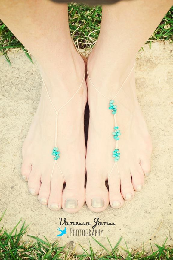 diy tutorial  DIY Boho Foot Jewellery..going to make one of these for summer!