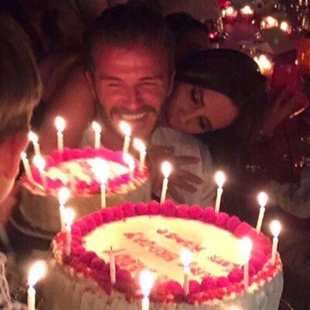 Royalcad David Beckham Shows Off His Birthday Cakes Photo