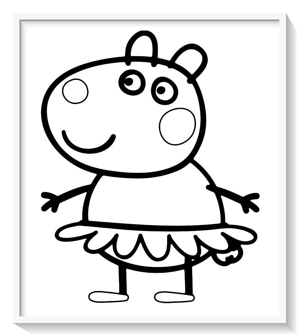 Peppa Pig Para Colorear 120 Imagenes De Peppa Para Pintar