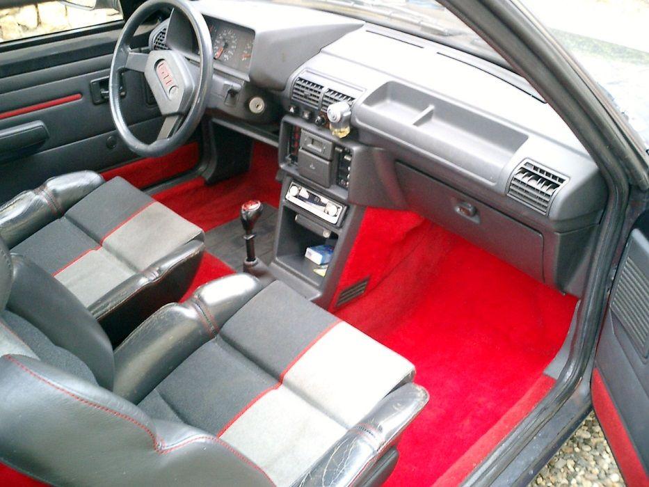 Peugeot 205 Gti 1 9l Front Interior Red Carpet Peugeot Gti Renault 5 Gt Turbo