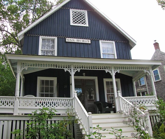 With Blue Siding Homes: Vertical Siding, Country Cottage Feel, Bulky White Accents