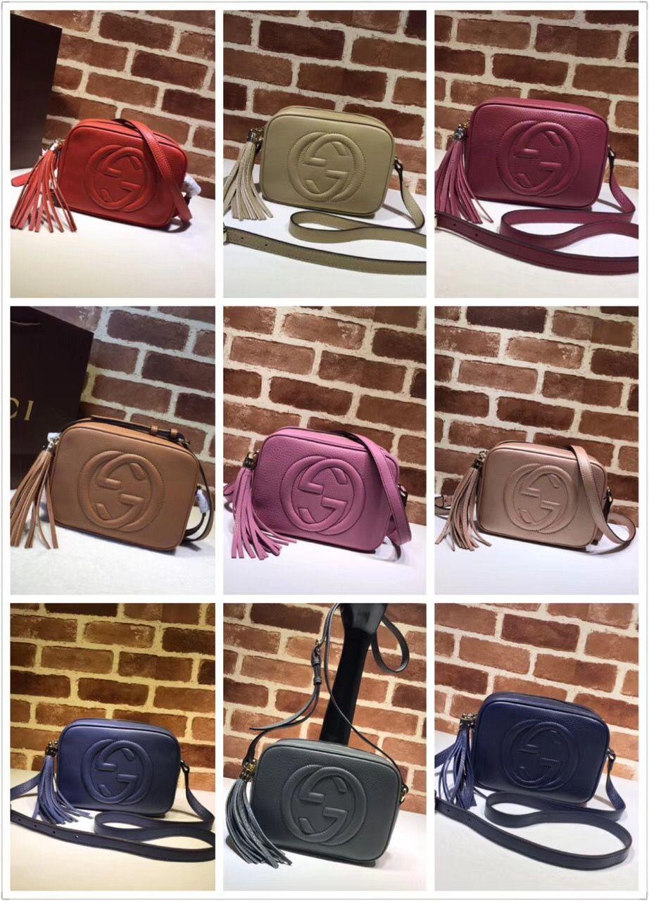 4630d96e55b7 Gucci woman bag soho disco cross body shoulder bag colors