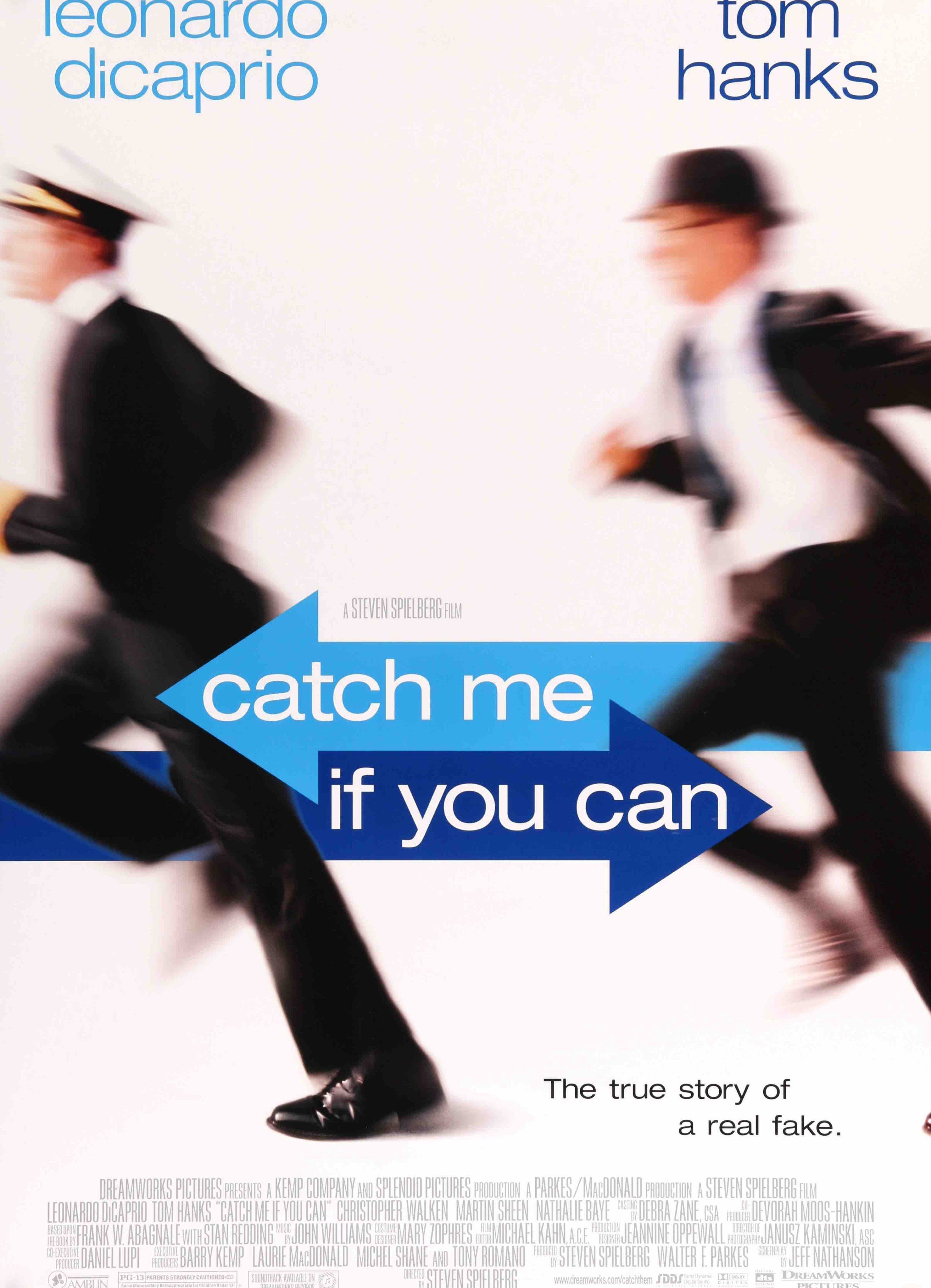 Catch Me If You Can 2002 Steven Spielberg Movies Leonardo Dicaprio Movie Posters