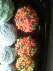 up close look at nerd cupcakes