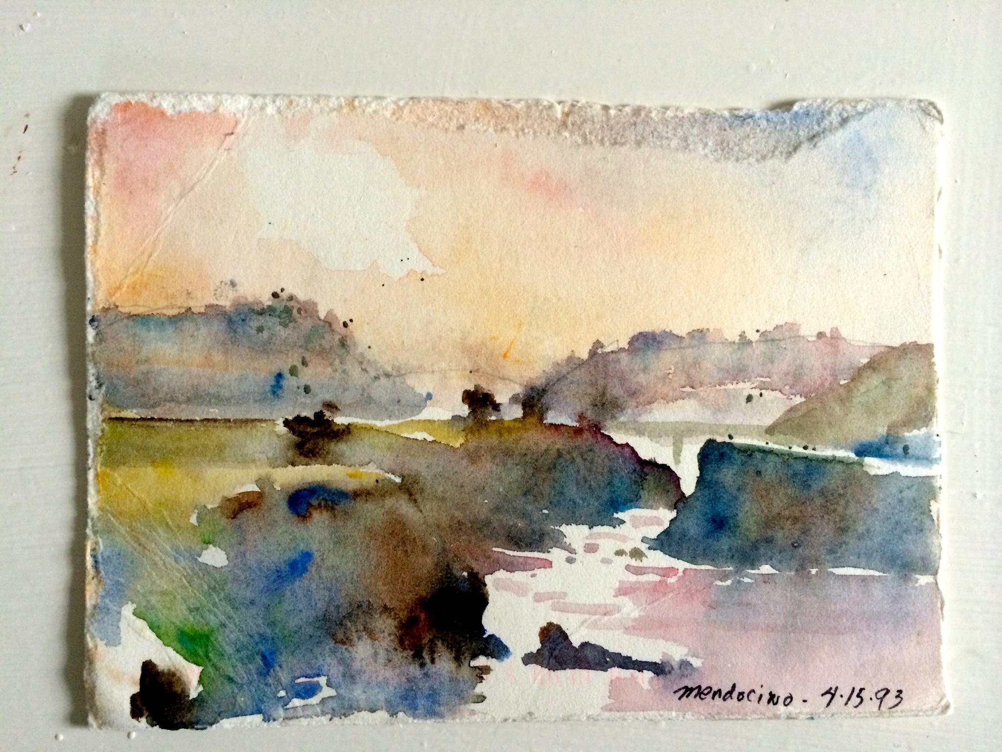 Charles Reid Watercolor Landscape Paintings Painting Landscape