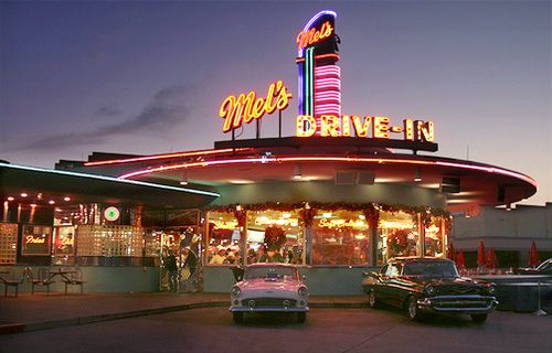 Mel S Drive In An Iconic Los Angeles Destination Even If You Haven T Ever Been In Person We Guarantee You Ve Seen I Vintage Diner Retro Diner American Diner