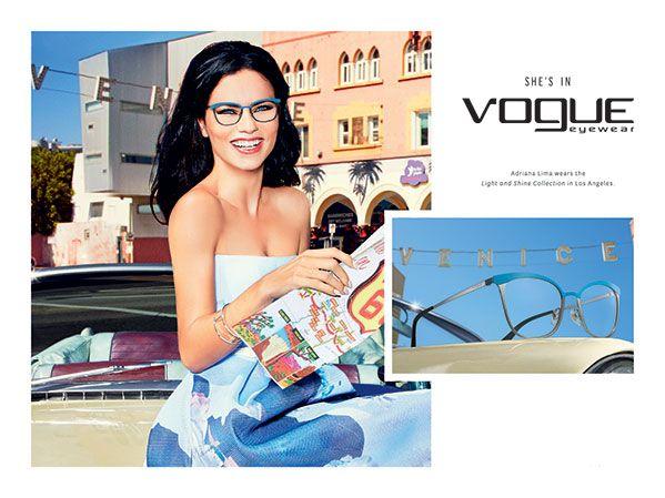Vogue Eyewear apresenta Adriana Lima como rosto da Campanha SS 16 | ShoppingSpirit
