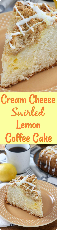 Cream Cheese Swirled Lemon Coffee Cake Recipe Lemon