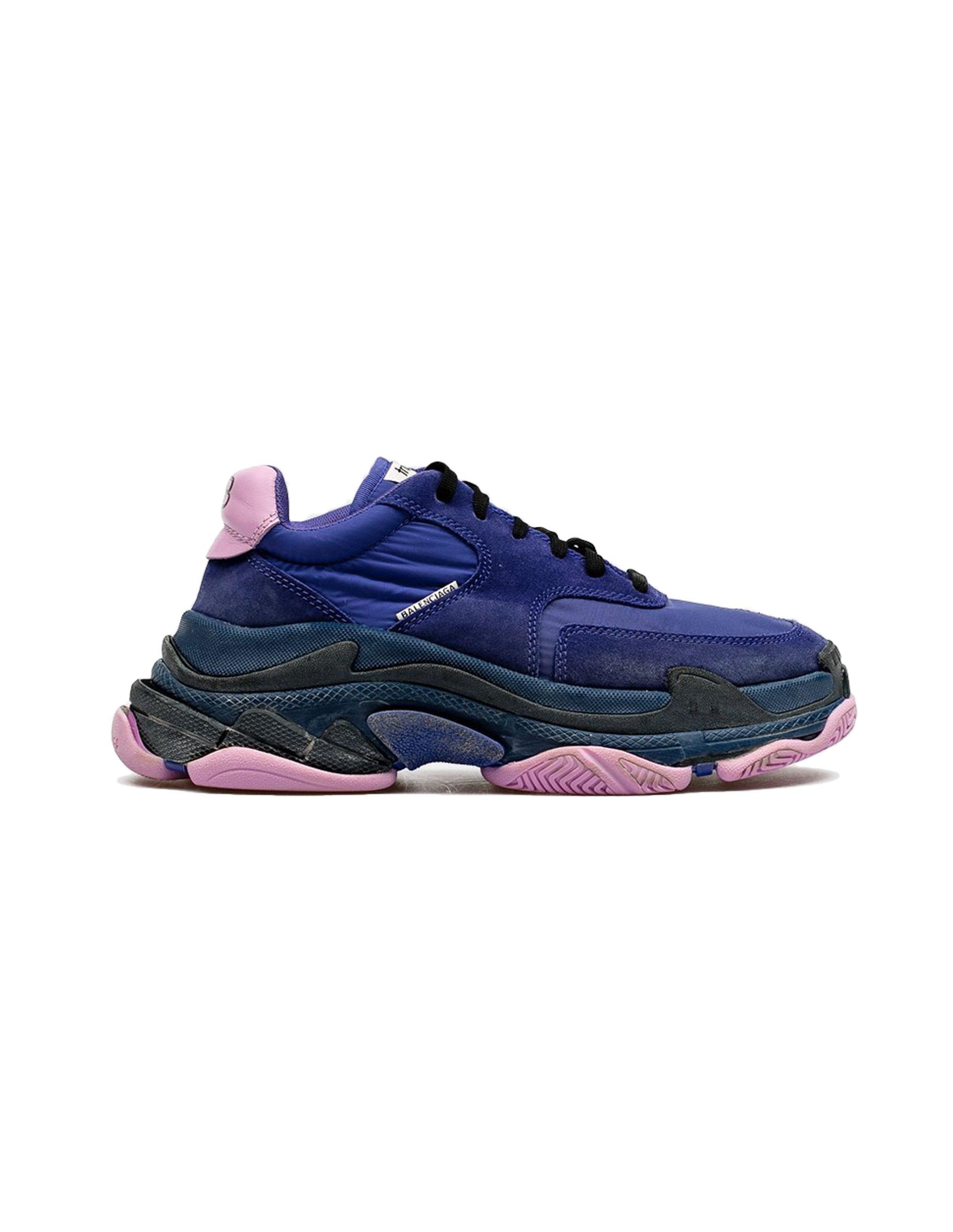 Balenciaga Purple Triple S Sneakers