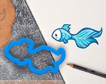 Betta Fish Cookie Cutter | Fish Fondant Cutter | Cute ...