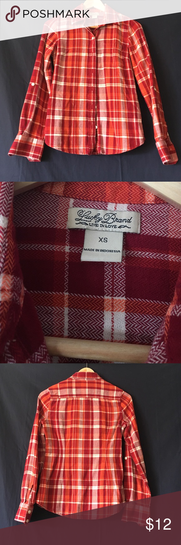 Button up flannel shirts  saleLucky Brand flannel  Lucky brand Flannels and Lucky