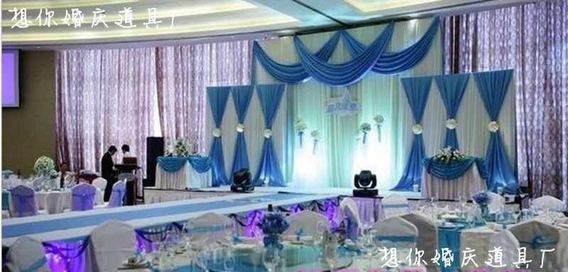 Cheap Supplies Pack, Buy Quality Supplies Tools Directly From China  Decorative Office Supplies Suppliers: 2014 Blue Wedding Backdrops Wedding  Stage Decor ...