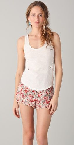 My new Free People shirt with cute lace detailing. Shop ShopBop!